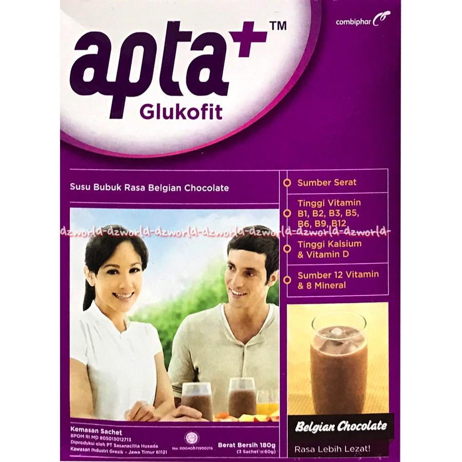 Apta Glukofit Rasa Belgian Coklat Susu Bubuk Untuk Jaga Kadar Gula Prenagen Lactamom Cokelat 400gr Darah Shopee Indonesia