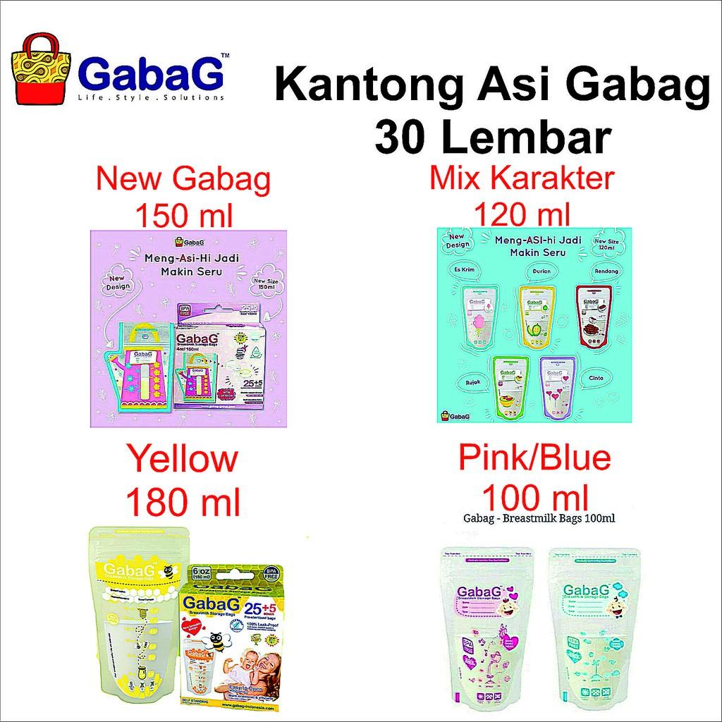 Gabag Kantong Asi Mini Boy Girl 100ml Shopee Indonesia Milk Storage 30pc