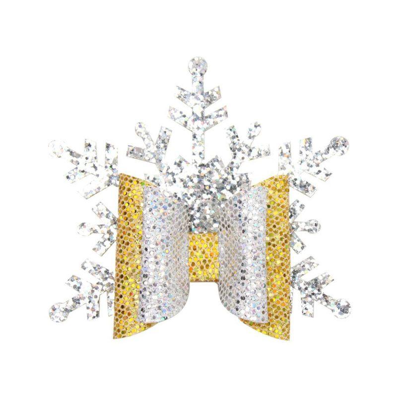 Baby Girl Christmas Snowflake Headband Hairband Rhinestone Sparkle Photo Prop
