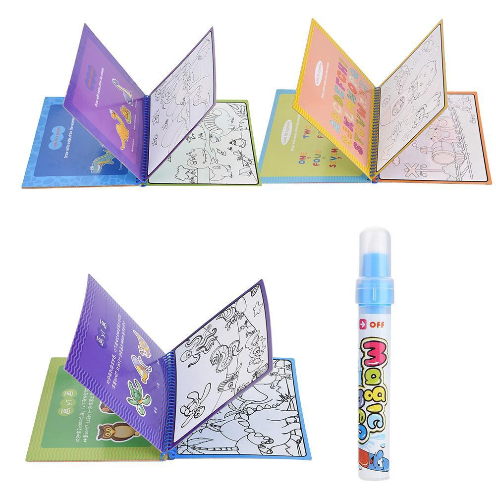 Buku Mewarnai Ajaib Dengan Pen Air Untuk Edukasi Anak Shopee Indonesia