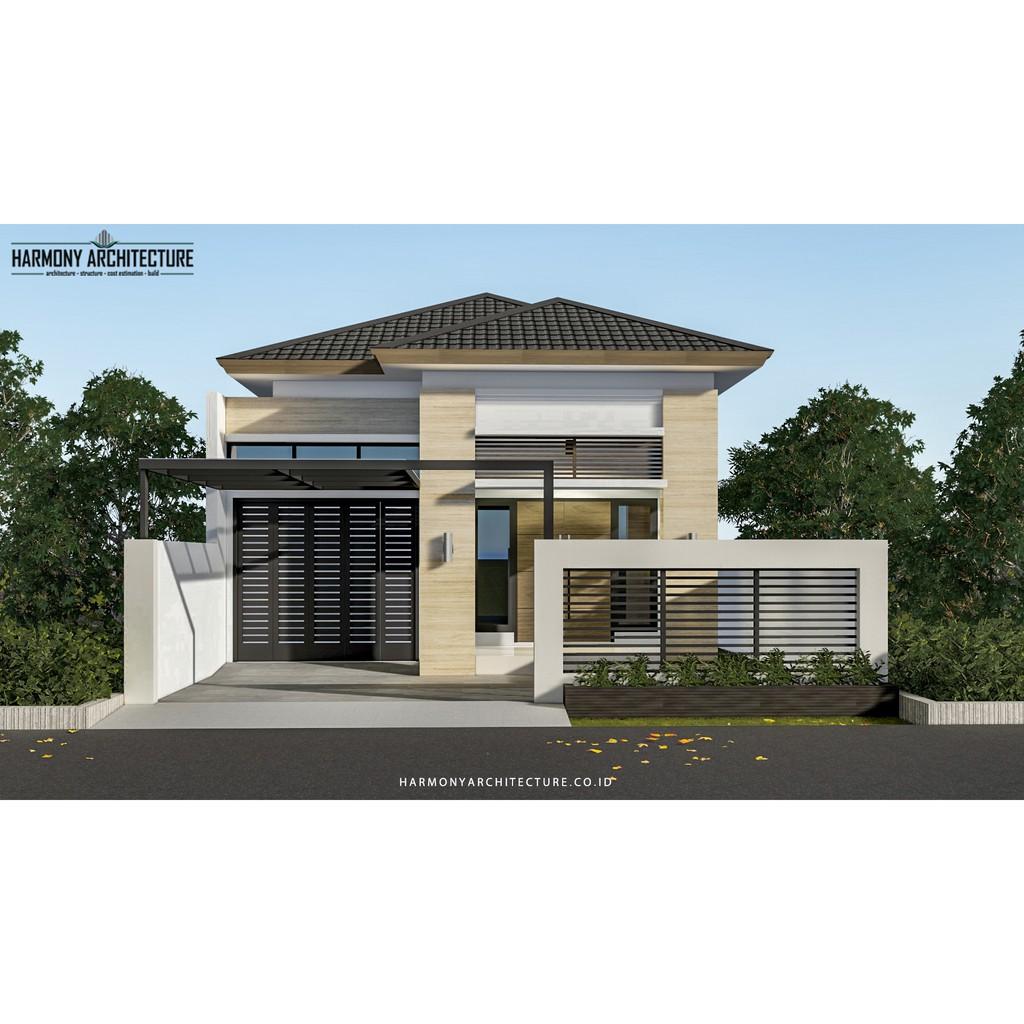 Desain Rumah Minimalis Modern 1 Lantai Lahan 8 X 17 Shopee Indonesia