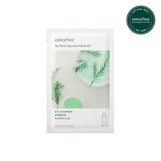 [innisfree] My Real Squeeze Mask - Tea Tree EX (Trouble Care & Oily Skin)