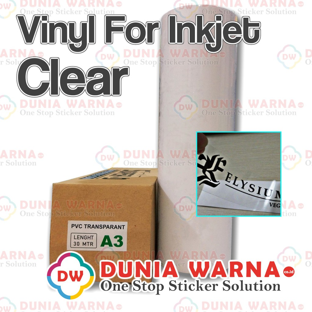 photograph regarding Inkjet Printable Vinyl Roll called Vinyl Coating Artpaper Inkjet Printer Dye Pigment Printing Sticker Striping Transparan Obvious A3 Roll