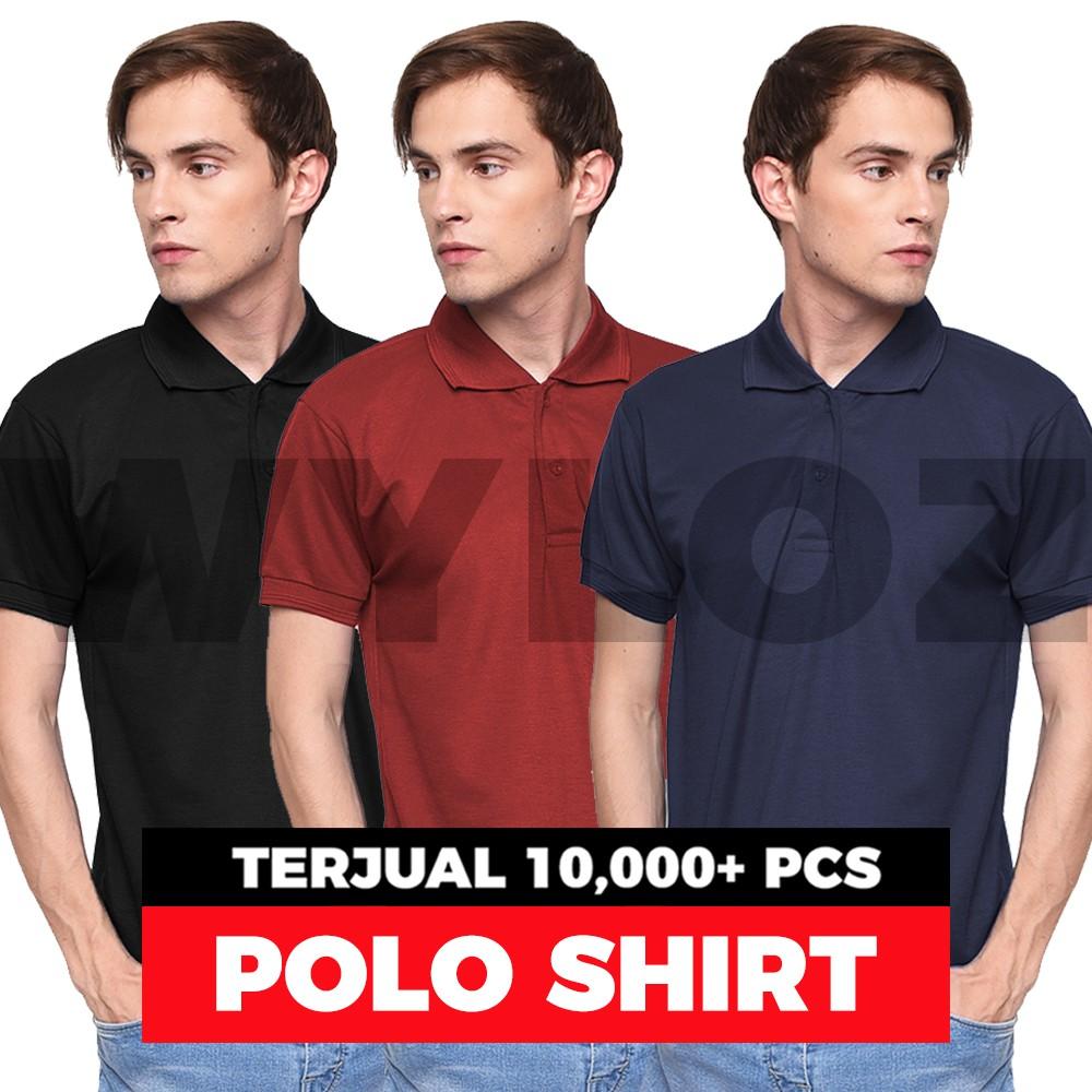 Kaos Polo Shirt Kerah Baju Pria Polos Wangki Keren Murah  ecc97f8e5b