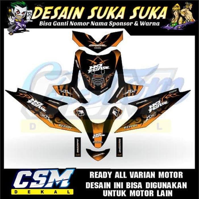 Dekal Decal Motor Beat Karbu Stiker Sticker Striping Body Motif Modifikasi Tribal Motul Race