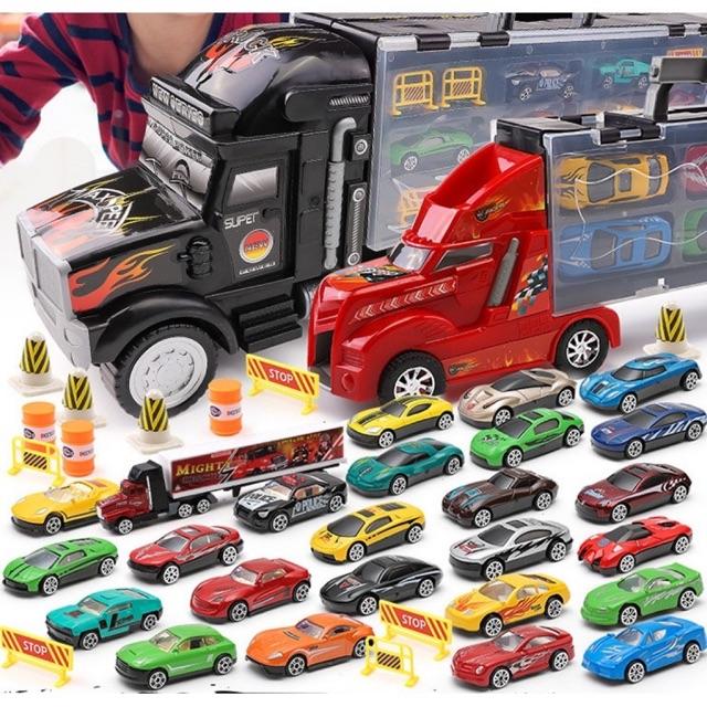 Mainan Mobil Mobilan Truck Mengangkut Mobil Set Mobil Mobilan Anak Cowok Laki Laki Shopee Indonesia