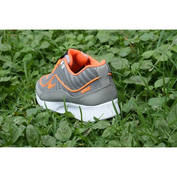 size 40 3f8f3 cbf67 Supplier Sepatu Grade Ori  Kw Super Nike Airmax Supreme Abu Orange -  Sneakers Running Wanita  Shopee Indonesia