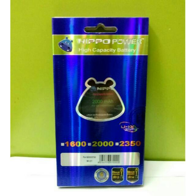 Baterai batre battery HIPPO BLACKBERRY onix 9700 / bold 9000 (2000mah)