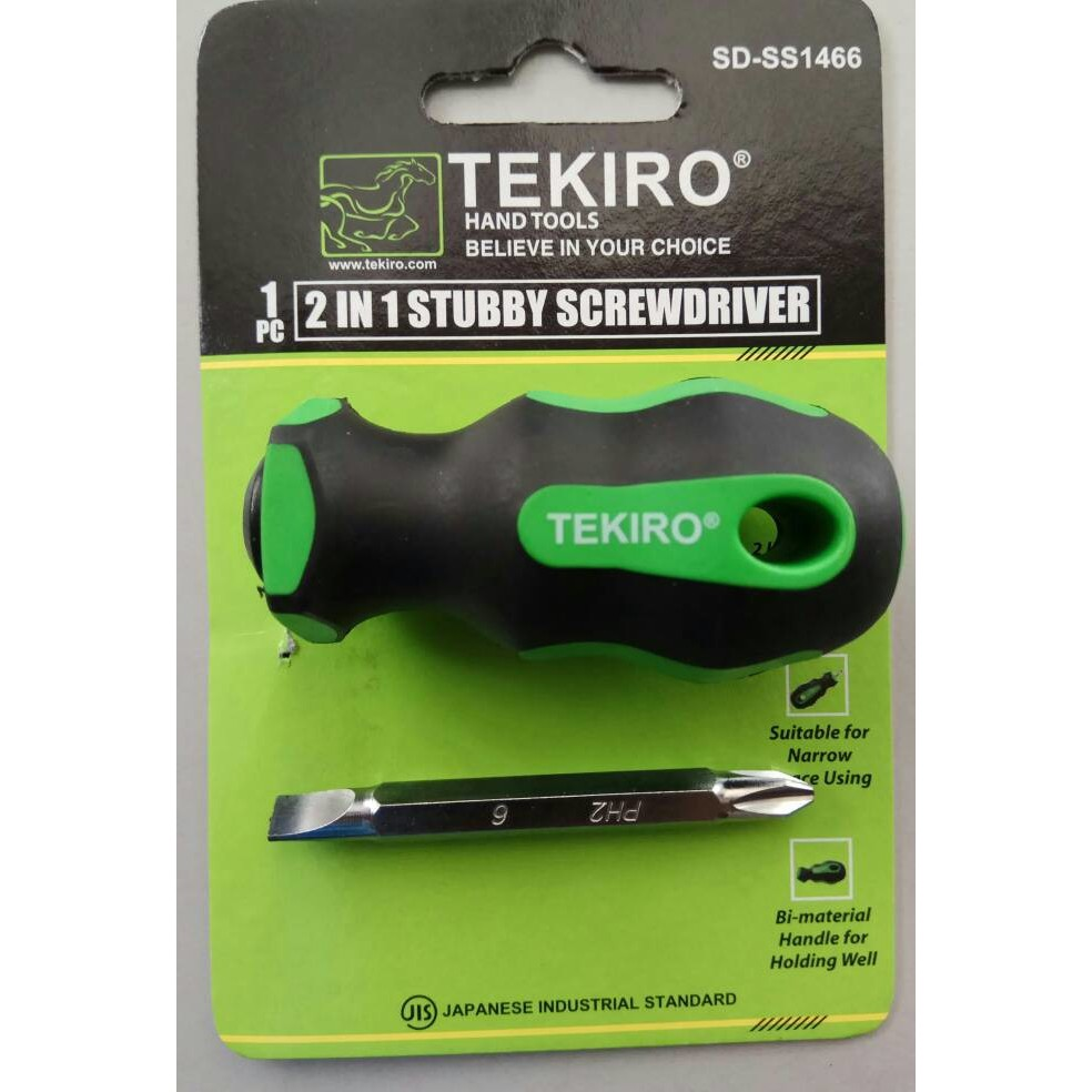 Obeng Bolak Balik Tekiro 2 Way Dua Arah Two Screwdriver Shopee Indonesia