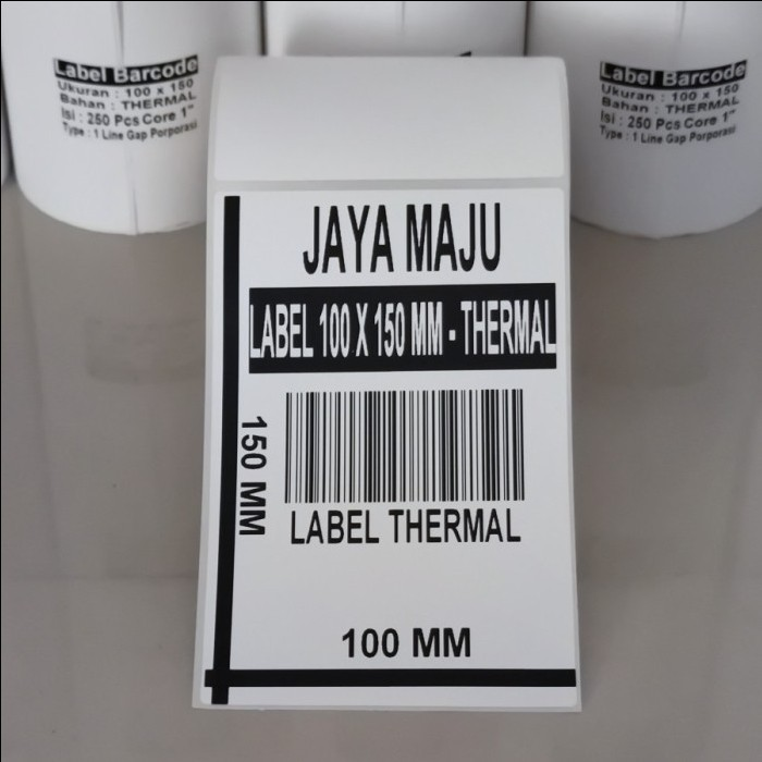 LABEL BARCODE THERMAL  100 X 150 100X150 LABEL THERMAL 100 x 150 100x150 DIRECT THERMAL ISI 250PCS