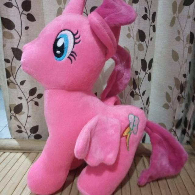 Boneka Kuda Poni Unicorn Pink Okuran38cm Shopee Indonesia