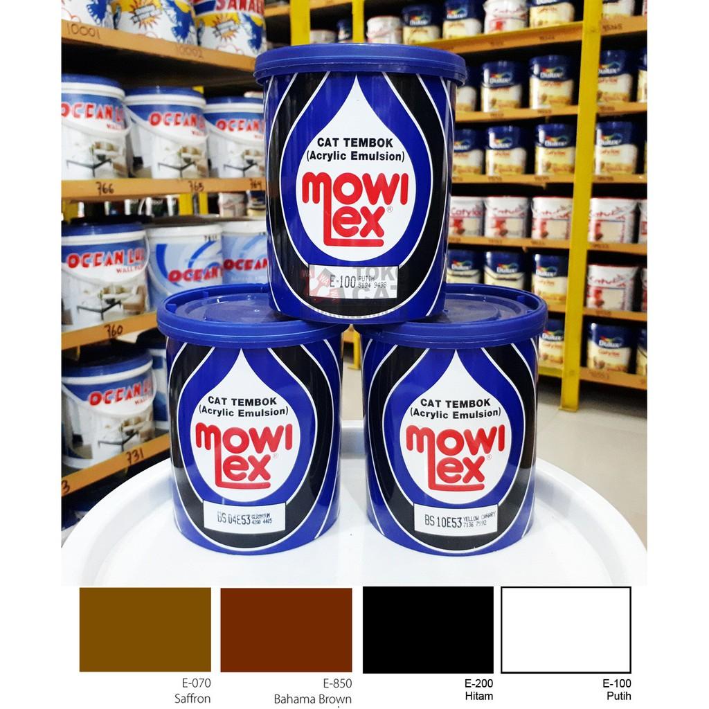 Cat Tembok Mowilex 1 Liter Warna E100 E200 E070 E850 Shopee Indonesia Harga cat mowilex 1 kg