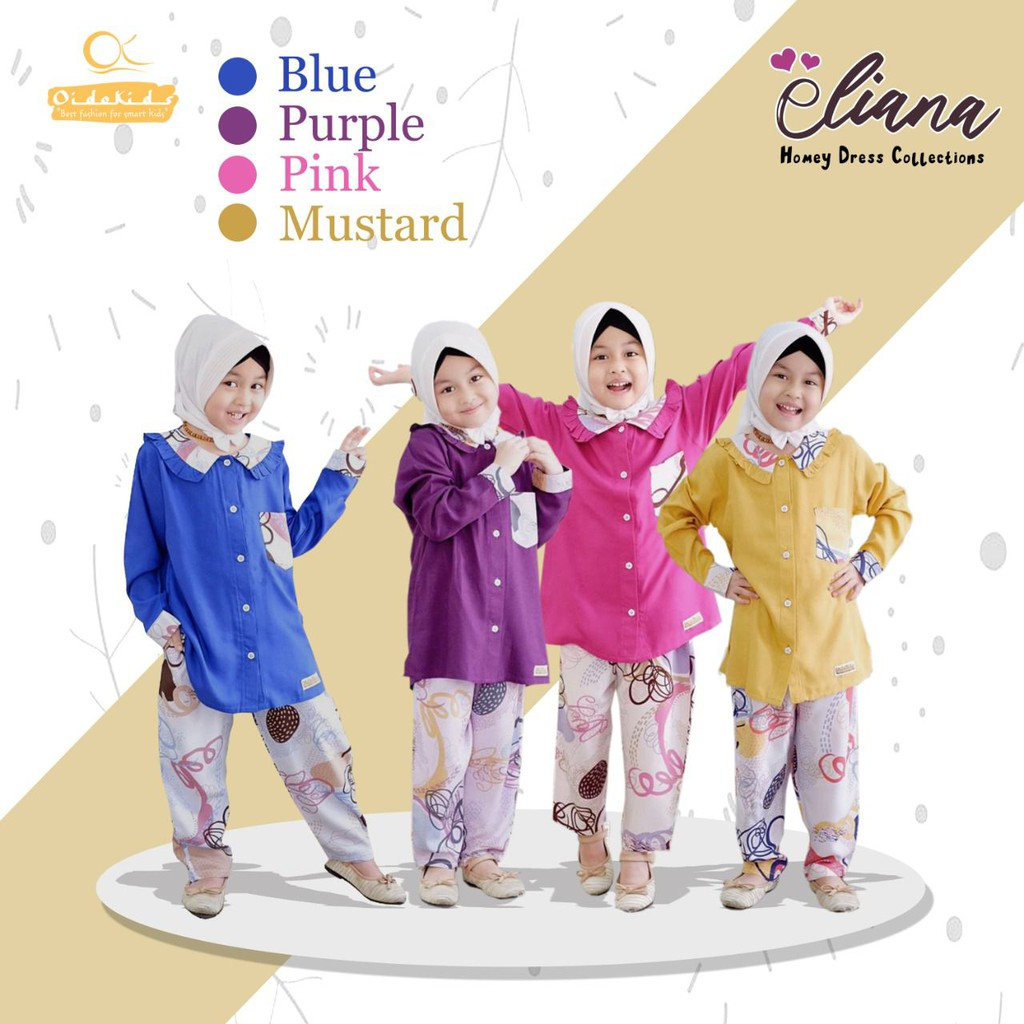 Setelan Home Dress Anak Eliana by Oidokids