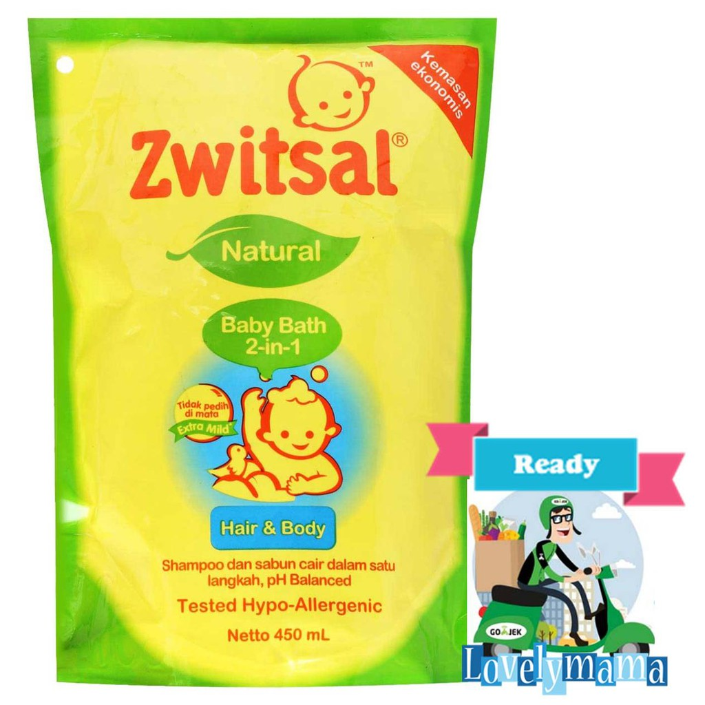 Zwitsal Baby Bath Refill 2in1 450ml Shopee Indonesia Twin Pack Natural Milk Ampamp Honey Pouch 450 Ml