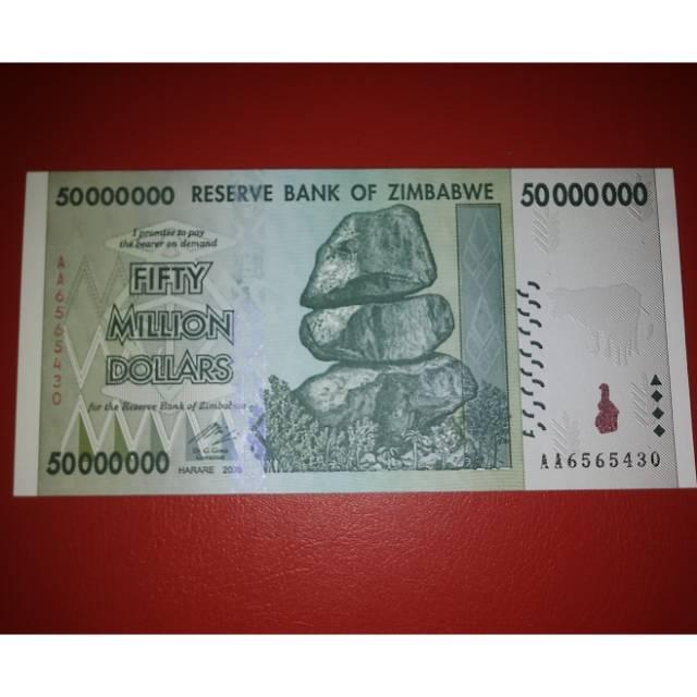 Uang Asing Zimbabwe 50 Million Dollars