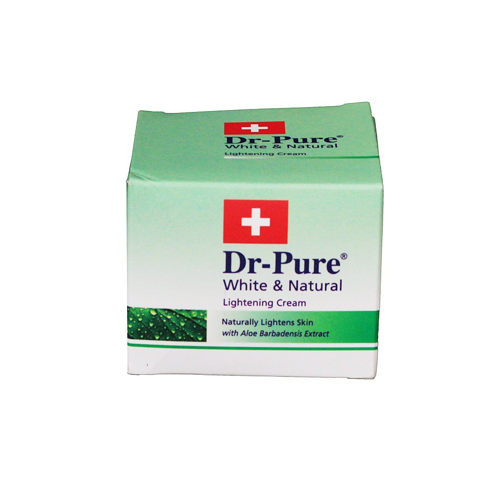 DR-PURE WHITE & NATURAL LIGHTENING CREAM 60GR (9555135303911) | Shopee Indonesia