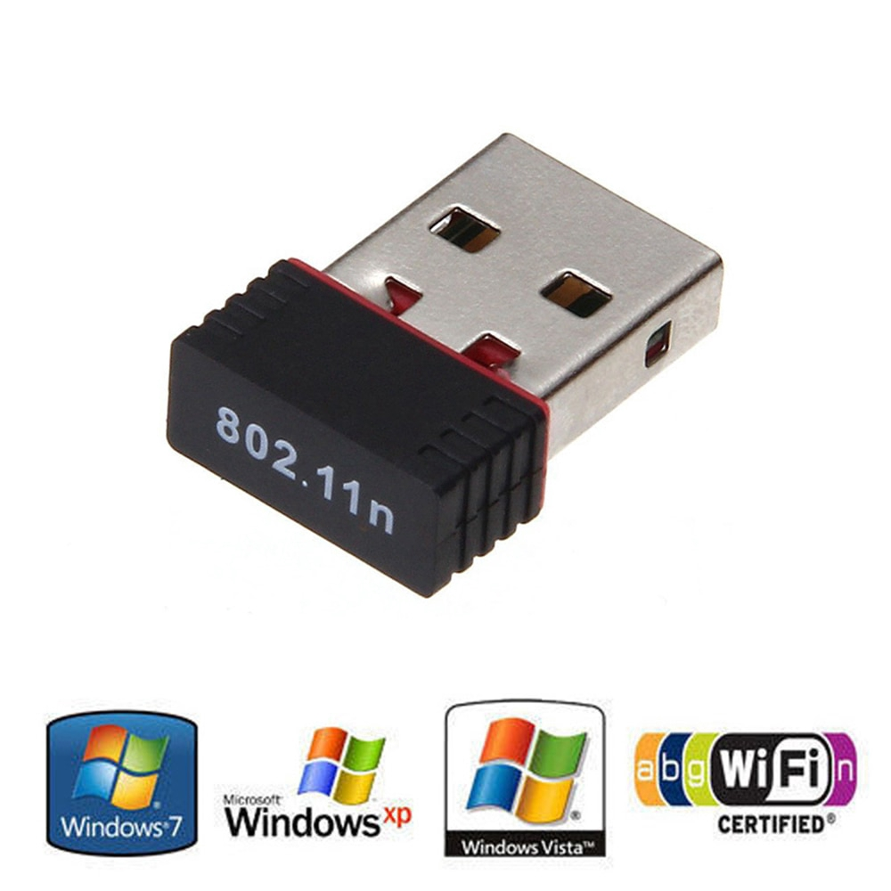 USB WiFi Adapter N 802.11 b//g//n Wi-Fi Dongle High Gain 150Mbps Wireless Antenna