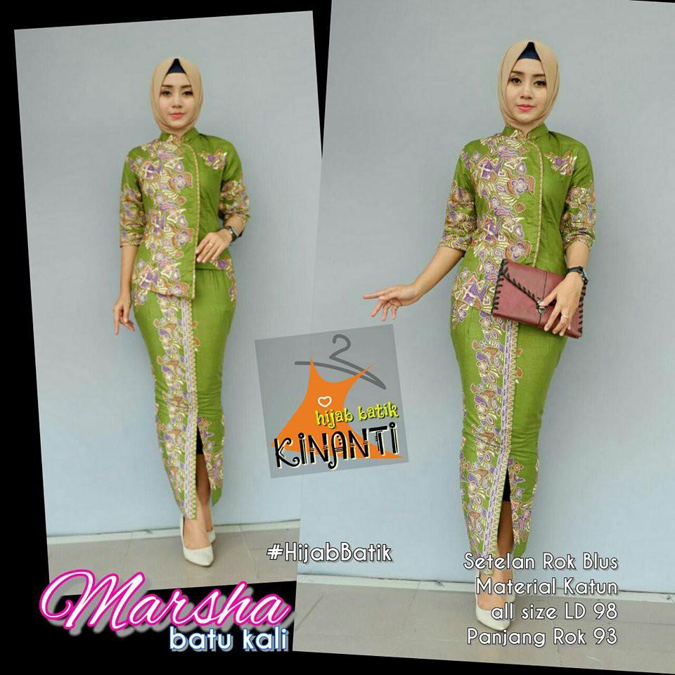 Stelan Kebaya Kirana Monochrom Asmat Kebaya Batik Grosir Modern