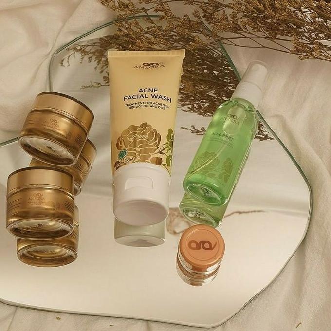 MuRah!!℠ FREE ONGKIR Anzora glow Anzora acne skincare anzora | night cream anzora | day cream anzora