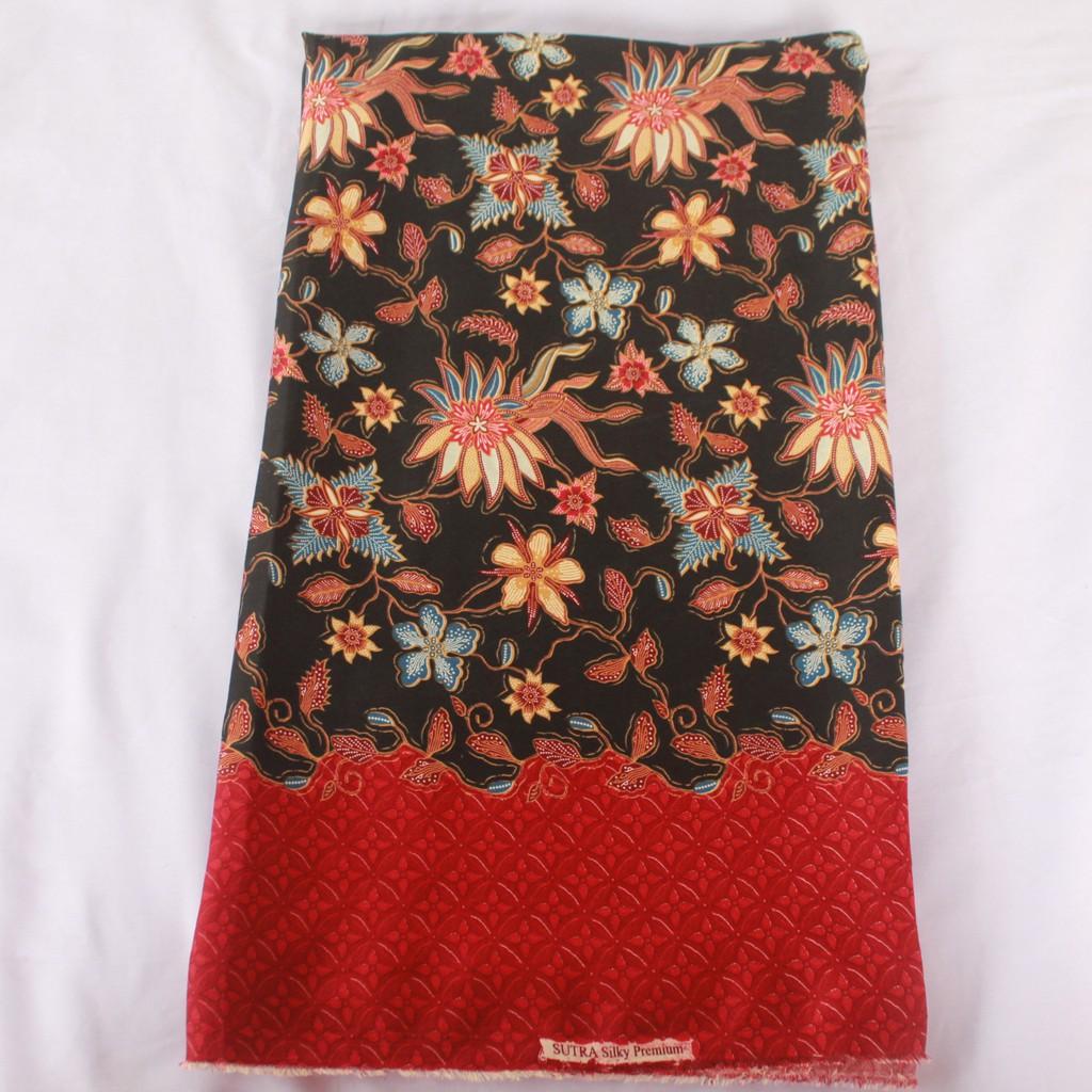 KBS005 Kain Batik Semi Sutra Silky Halus PREMIUM Bawahan Kebaya Kutubaru  e2d527a5a6