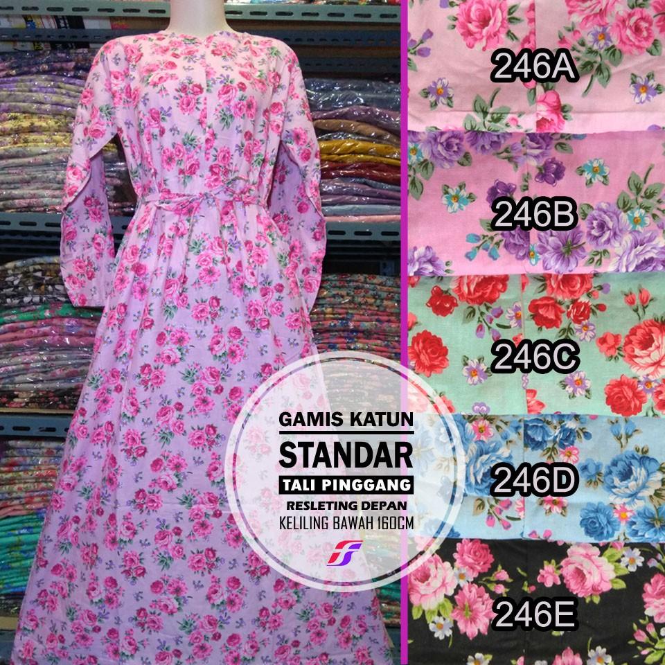 Belanja Online Dress Muslim Fashion Shopee Indonesia Gamis Flower Tanpa Bergo