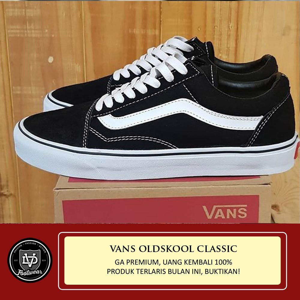 7ac5d7a167 SEPATU VANS AUTHENTIC CLASSIC BLACK WHITE   VANS COWO   sepatu skate   sneakers best seller