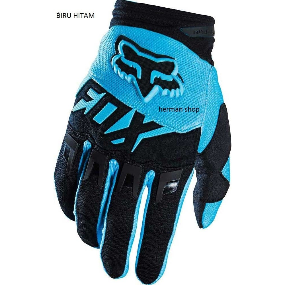 Termurah Sarung Tangan Fox Dirtpaw 2016 Youth Biru List Hitam Gloves Biker Sarung tangan | Shopee