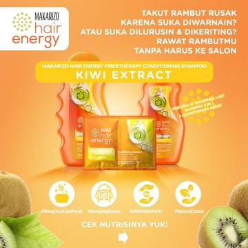 Makarizo Hair Energy Fibertherapy Conditioning Shampoo 170ml   330ml-Kiwi Extract