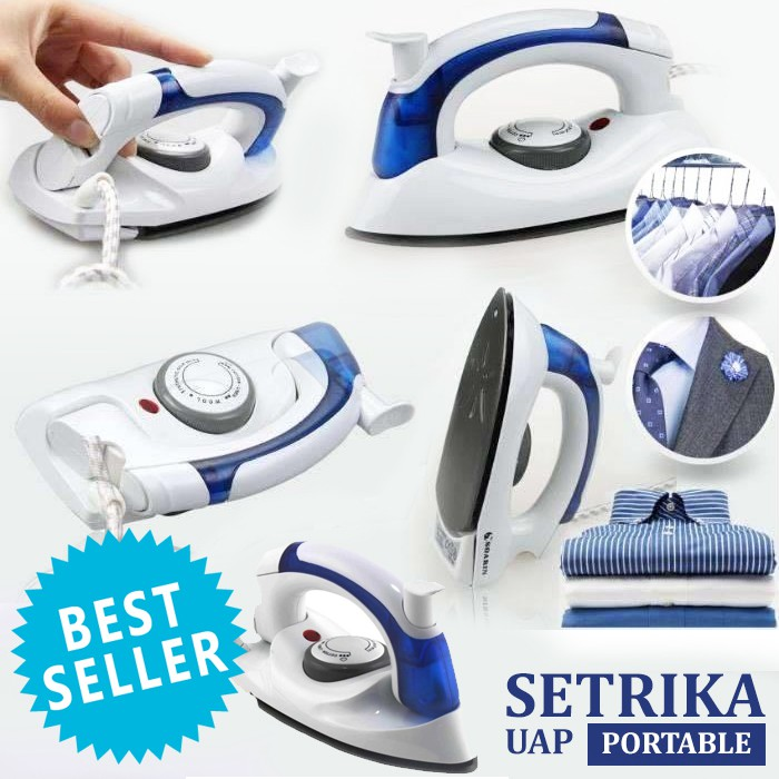 BEST SELLER Setrika Uap Lipat Portable Hetian / Soarin 2 in 1 Travel Iron Steamer | Shopee Indonesia