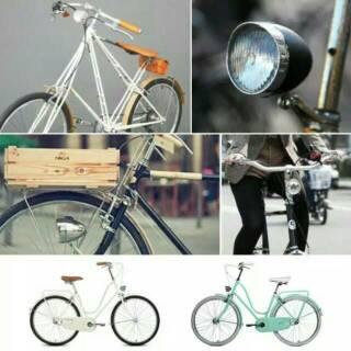 Lampu Sepeda Klasik Retro Onthel Vintage Minion Lipat Terlaris Shopee Indonesia