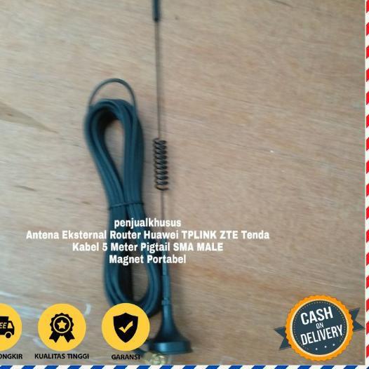 5.5 SALE Antena Modem Orbit Star Telkomsel Huawei B312 B311 Kabel 5M SMA MALE