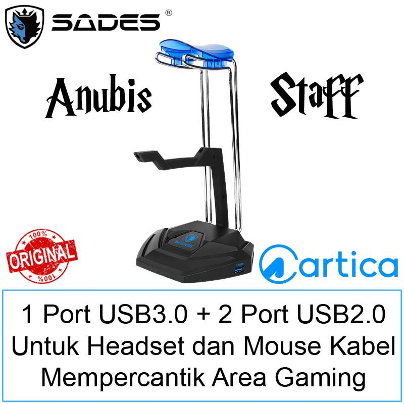 Sades Anubis Staff SA-W10 Multifunction Headset Stand