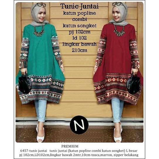 Yanna Tunic Atasan Bigsize Baju Muslim Wanita Atasan Tunik Katun ... b6674c8201