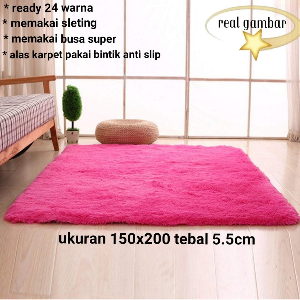 Karpet Busa Bulu Rasfur 200x150x65cm Shopee Indonesia Pp Rug 100x150 Subsidi Ongkir