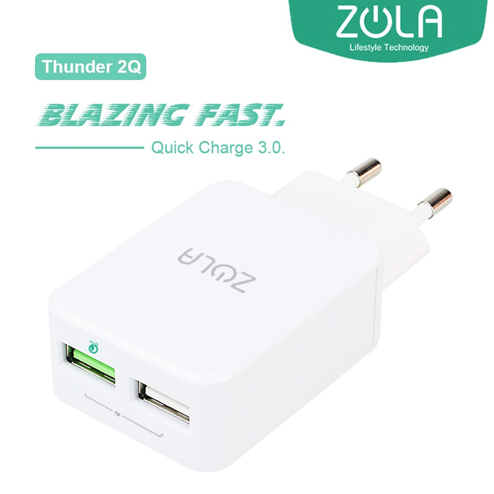 Charger Usb Zola Thunder Smart Fast Charging 21a Travel Zpiral Kabel Data Mikro Gold 2 Ports Shopee Indonesia