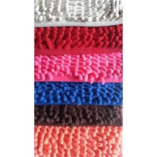 Keset Cendol Dof Merah 40 x 60 cm / karpet bulu / doormat chenille red