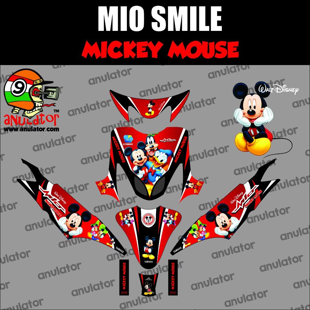 Sticker striping motor stiker yamaha mio smile mickey friends spec a shopee indonesia