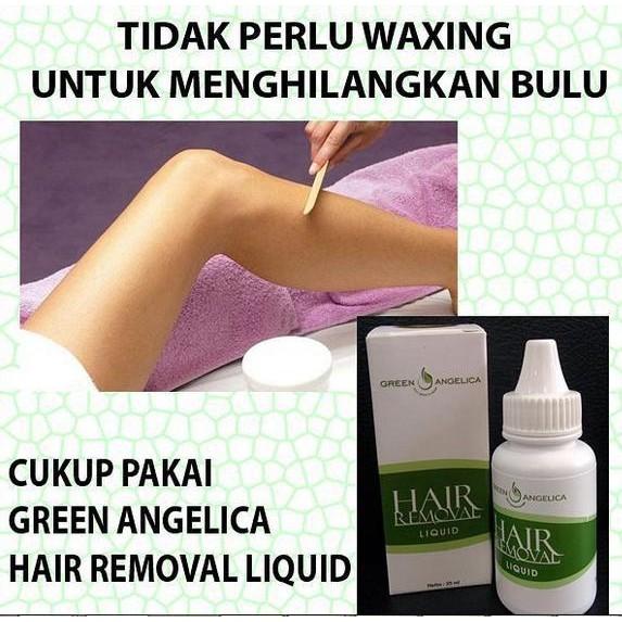 Lotion Perontok Bulu Permanen Sekali Usap Langsung Rontok Krim Bulu Aman Hair Removal Green Angelica Shopee Indonesia