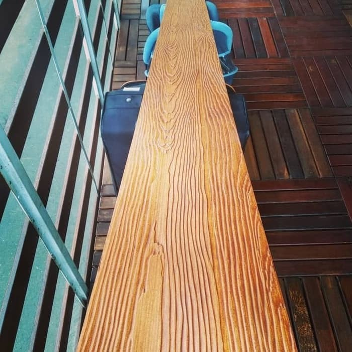 GRC Papan Motif Kayu Untuk Pagar dan Dinding Wood Plank 3m