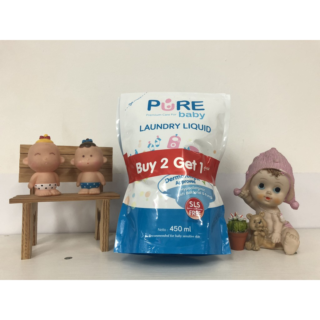 Pure Baby Laundry Liquid 700ml Buy 2 Get 1 Shopee Indonesia Refill 3 700 Ml