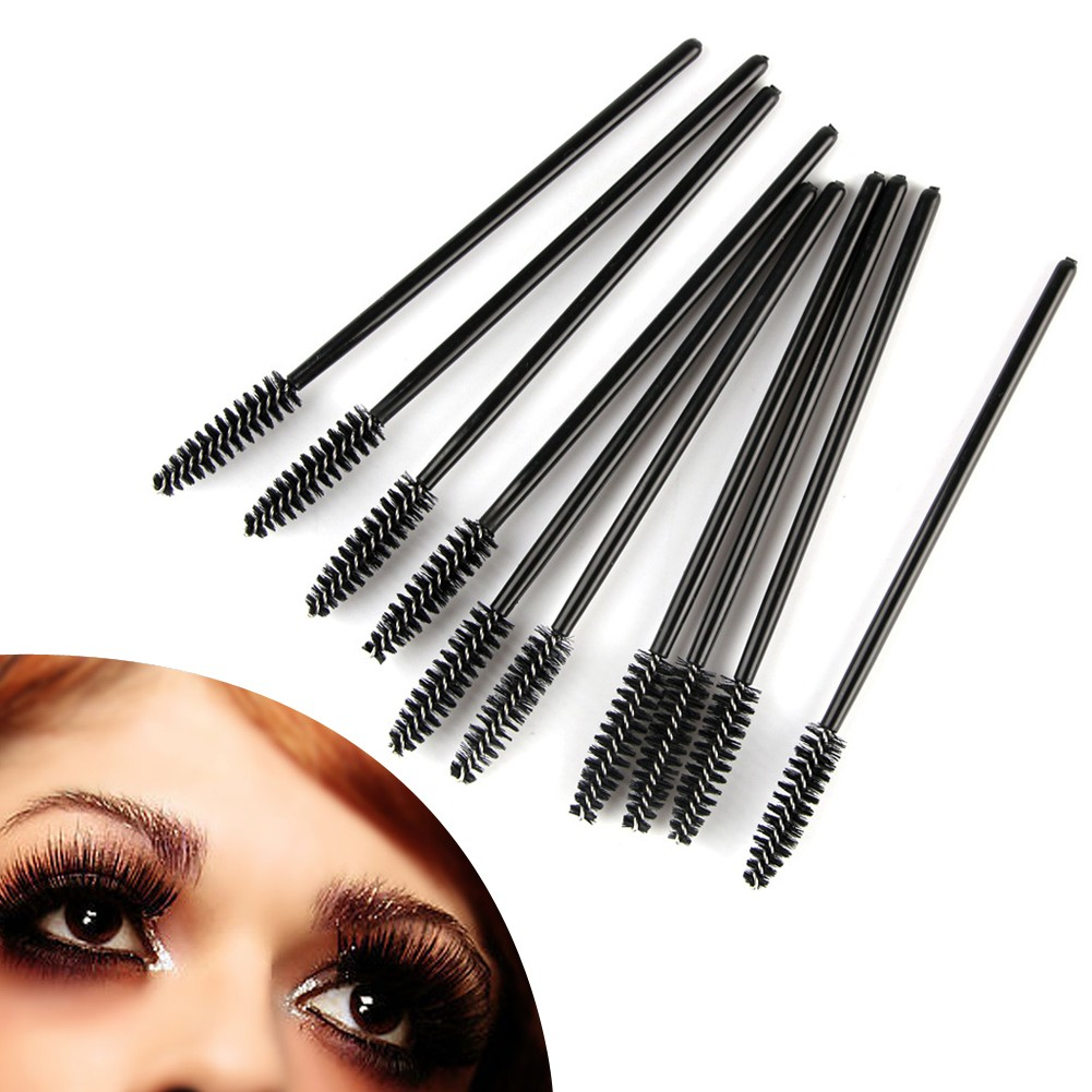 Kosmetik/Makeup: 500/1000Pcs Brush Fiber Sintetis Aplikator Maskara Bulu Mata Sekali Pakai