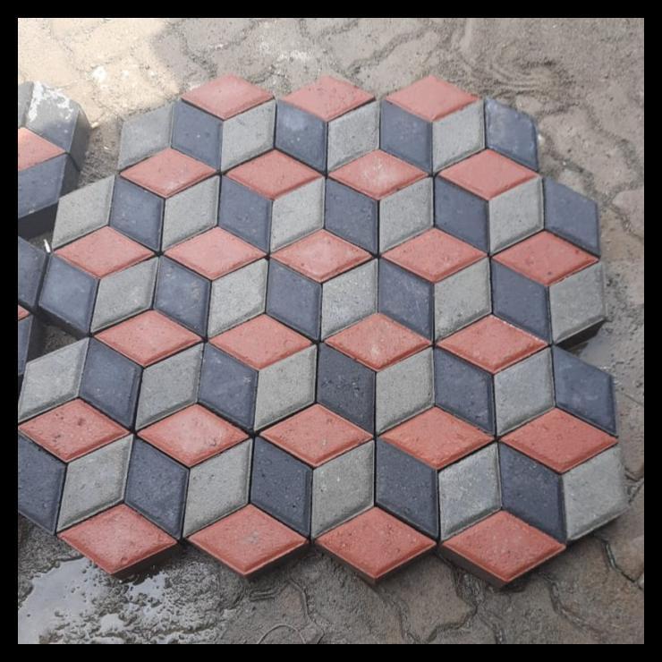 Diskon Paving 3D ,Hidrolik K300 , Conblock 3D , Paving 3 Dimensi