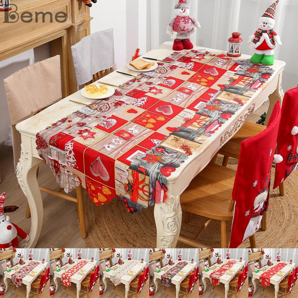 Christmas Tablecloth Table Runner Coffee Table Restaurant Table Top Decoration Shopee Indonesia