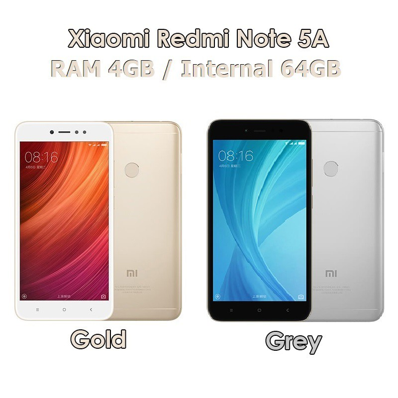 Xiaomi Redmi Note 5a Prime 4 64 64gb Gold Grey Baru New Distributor Shopee Indonesia