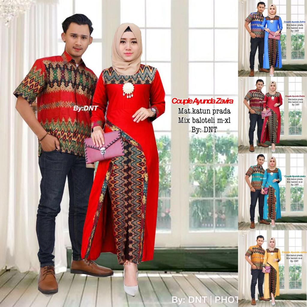 ( TERMURAH ) batik couple PITALOKA batik sarimbit batik pekalongan batik ori setelan batik wanita | Shopee Indonesia