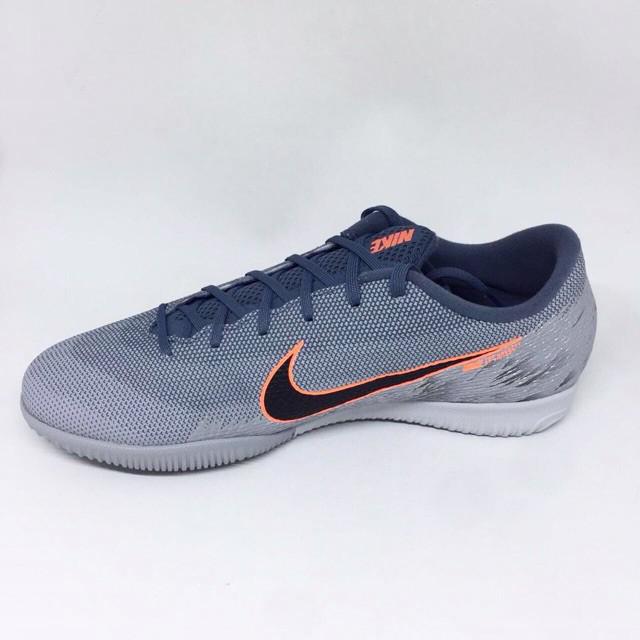 7dae822fdf69 proo merakyat Kicosport Sepatu futsal nike vapor 12 academy ic grey orange  original new 2019 | Shopee Indonesia