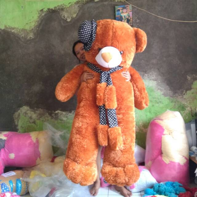 Boneka Teddy Bear Dress Classic Girl Ukuran 30cm  2c3bad1946