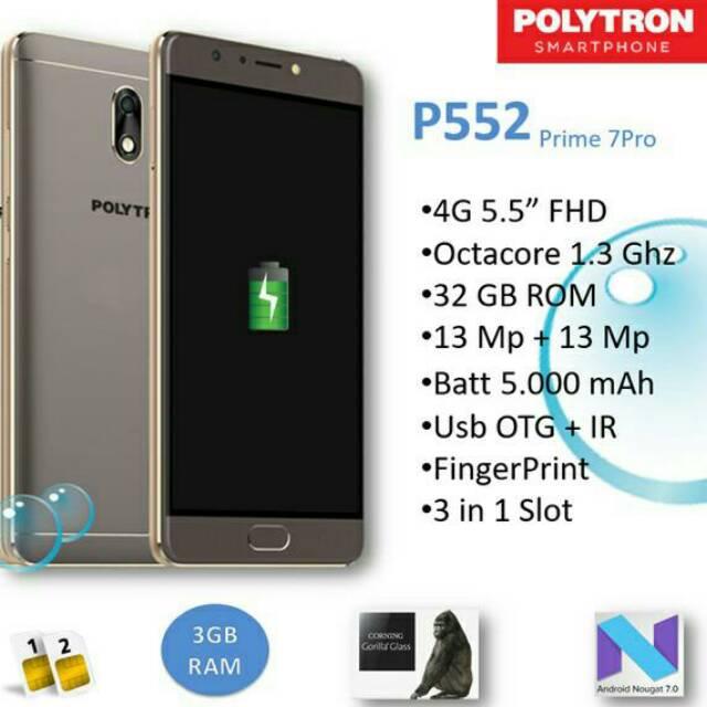 Polytron P552 Prime 7 Pro Ram 3 32 Batrei 5000mah Shopee Indonesia