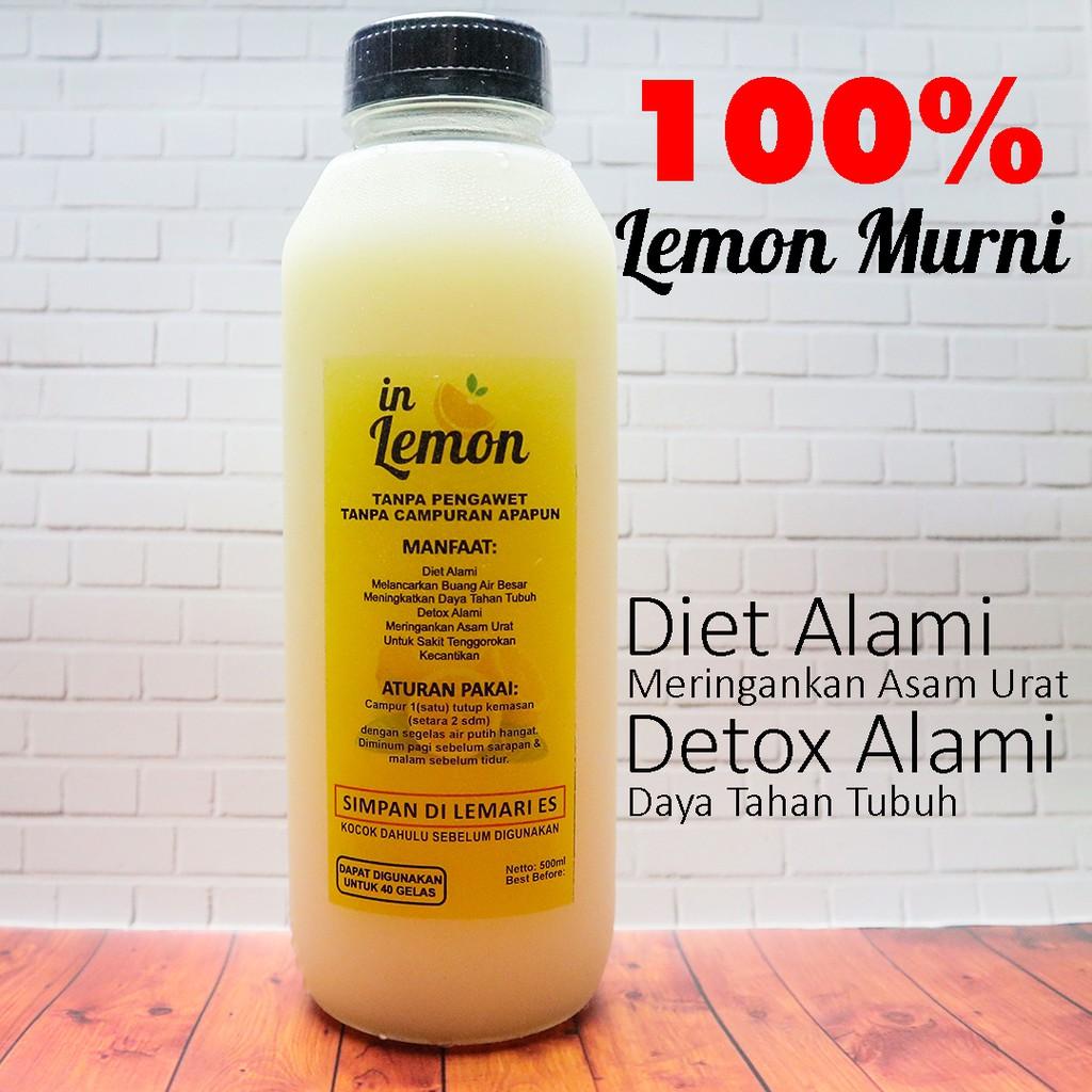 Lemon Water Minuman Diet Sehat Bagus Untuk Menurunkan Berat Badan Sari Lemon Fresh 500ml Shopee Indonesia