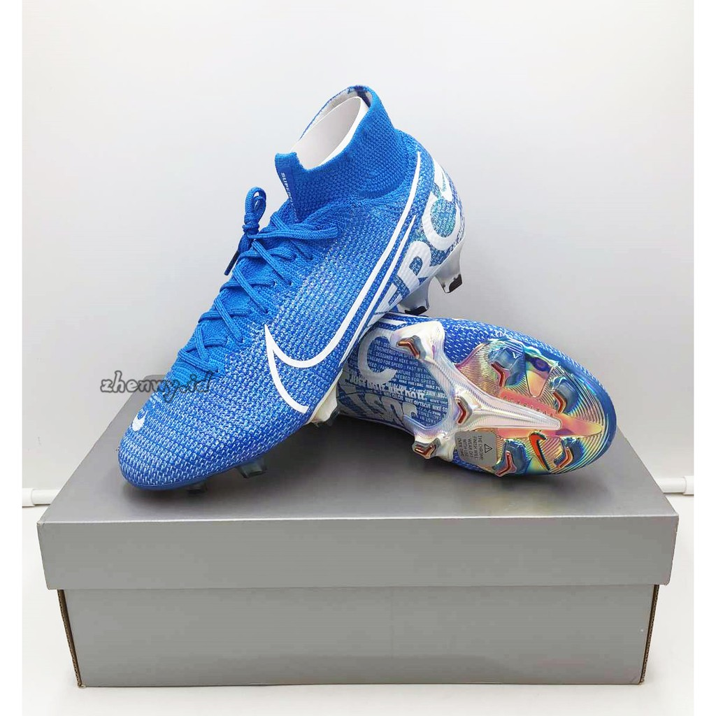 Sepatu Bola Desain Nike Mercurial Superfly 7 Academy Fg Warna Biru